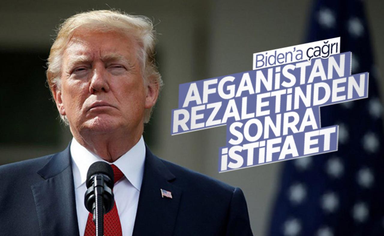 Afganistan kaosunu yaratan Biden'a Trump'tan istifa çağrısı!