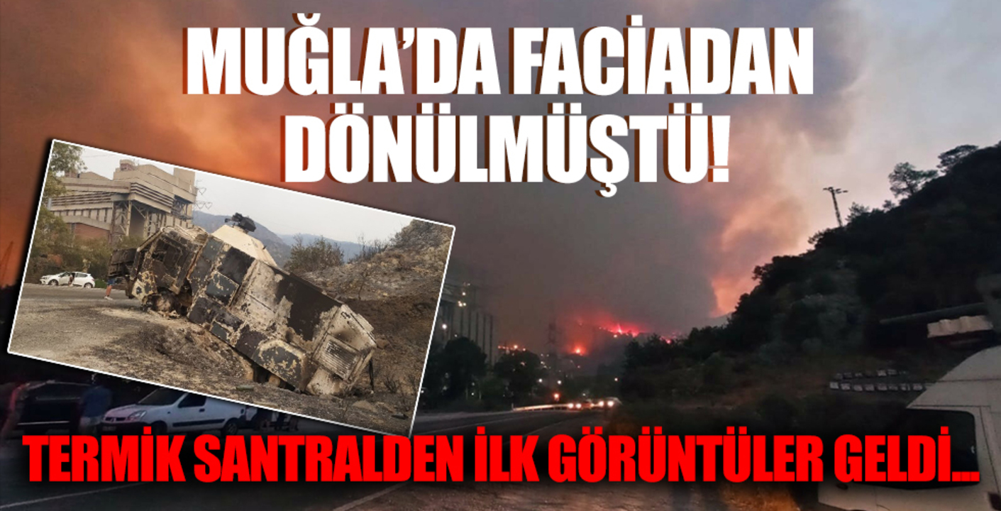 Alevlerin kontrol altına alındığı Kemerköy Termik Santrali'nden ilk görüntüler!