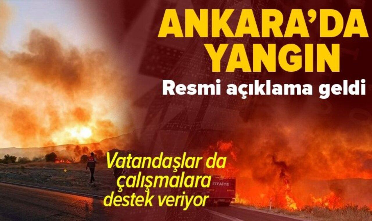 Ankara'daki kuş cenneti bölgesinde yangın! Ekipler söndürme çalışmasında..