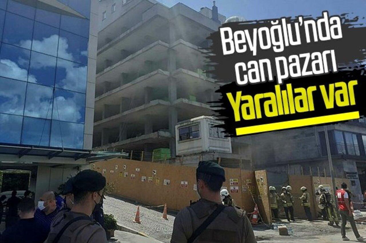 Beyoğlu'ndaki inşaatta yangın çıktı: 1'i ağır 6 işçi yaralı