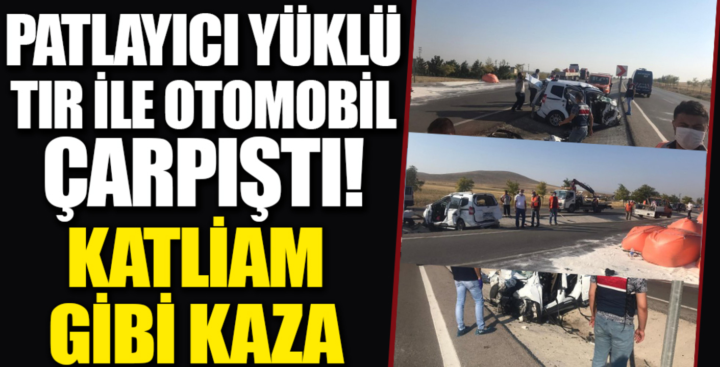Konya'da Patlayıcı yüklü TIR ile hafif ticari araç birbirine girdi: 6 ölü
