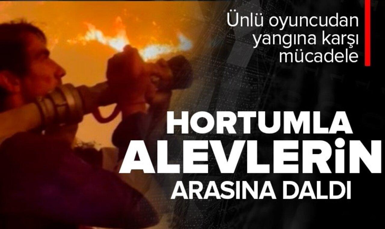 Orman yangınlarına müdahalede gönüllü olan İbrahim Çelikkol alevlerin içine daldı!