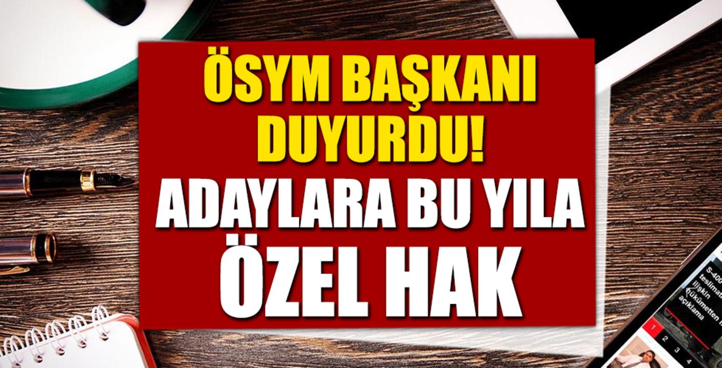 ÖSYM Başkanı Aygün'den, üniversite adaylarına ikinci ek yerleştirme müjdesi!