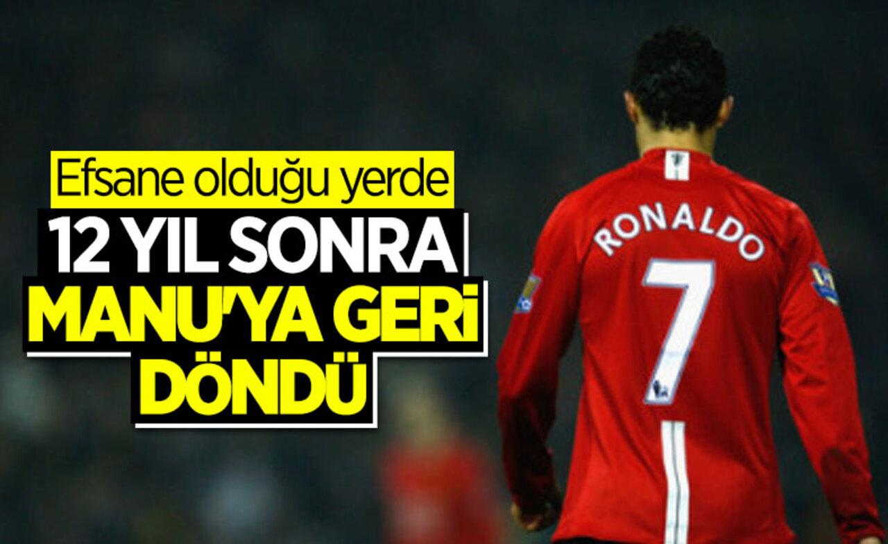 Portekizli yıldız Cristiano Ronaldo Manchester yeniden Premier Lig'de..