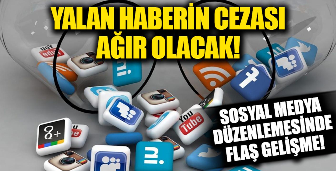 Sosyal medyaya gelen yeni düzenlemede yalan habere ağır ceza!