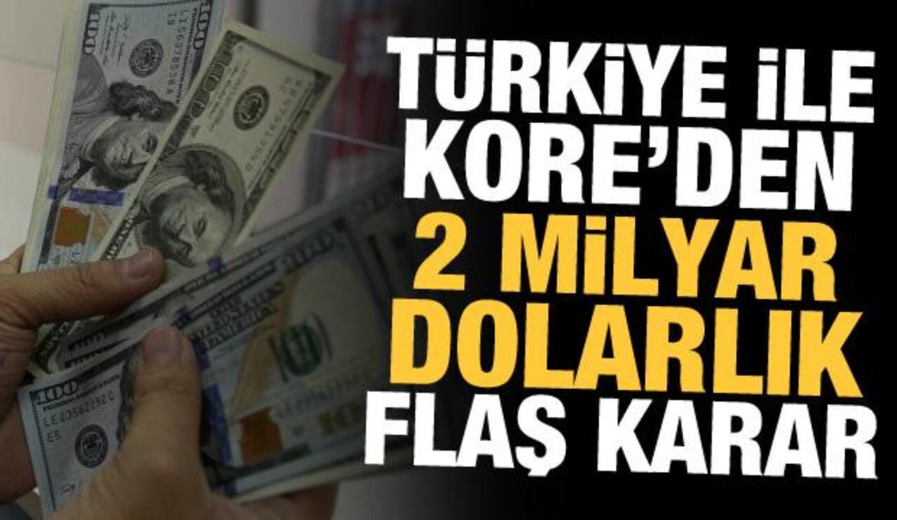 Türkiye, Güney Kore ile 2 milyar dolarlık swap anlaşmasına imzayı attı!