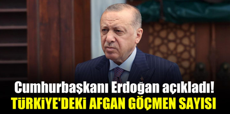 Türkiye'de Afganistan'dan gelen göçmen sayısını ne kadar? Erdoğan açıkladı..