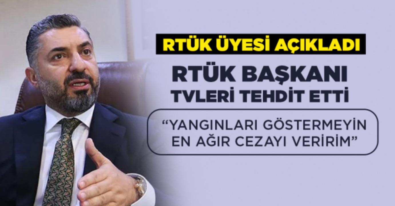 TV kanallarına yangın haberi yasağı getiren RTÜK, cezayla tehdit etti!