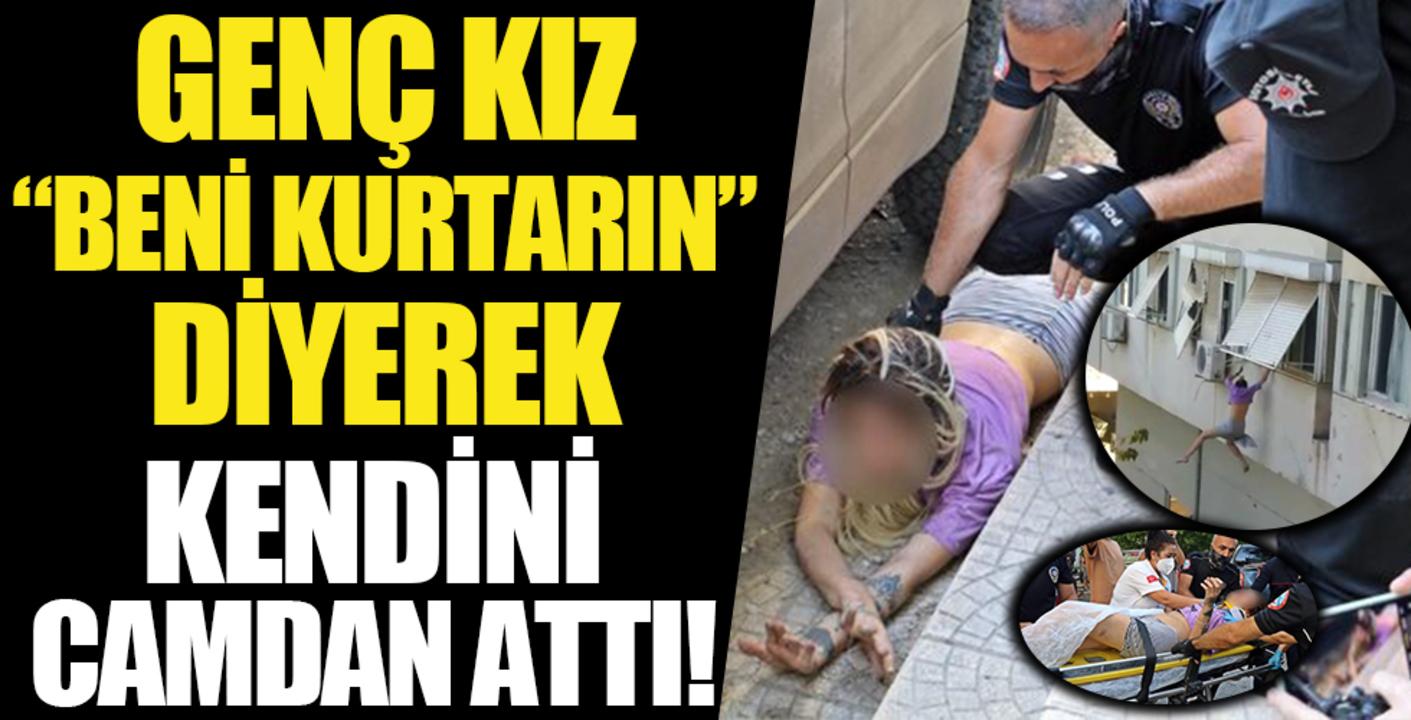 Antalya'da kaçırılan genç kız kurtulmak için pencereden ölüme atladı