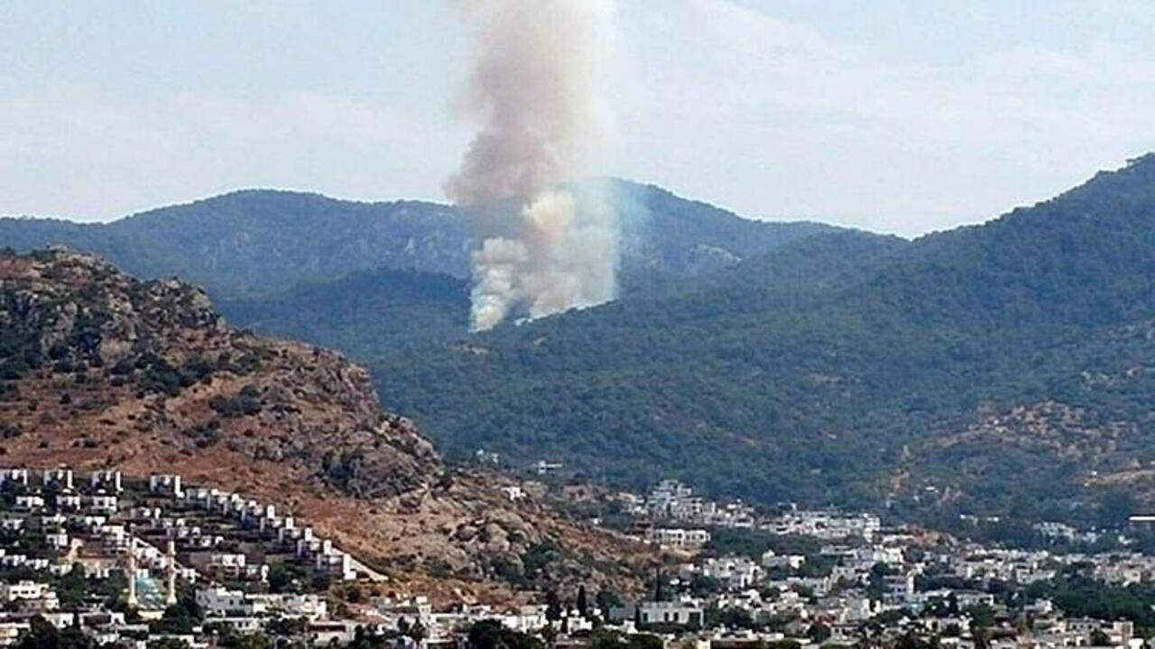Bodrum'da yangın geri döndü! Ormanlık arazide yangın