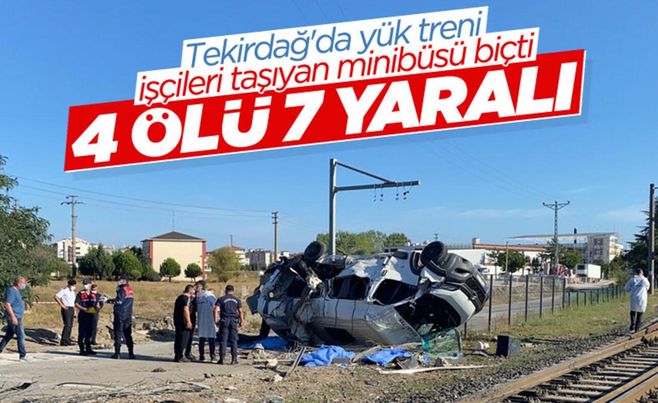 Tekirdağ'da tren minibüse çarptı! 4 ölü 7 yaralı
