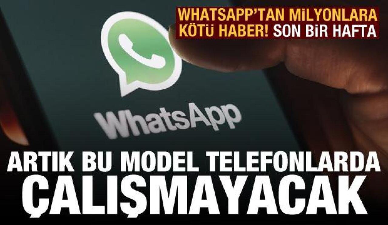 1 Kasım'dan itibaren WhatsApp uygulaması çalışmayacak telefonlar belli oldu!