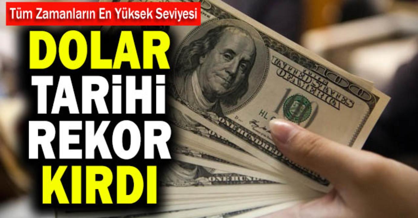 Dolar kuru, 9,77 ile tarihin en yüksek seviyesini gördü!