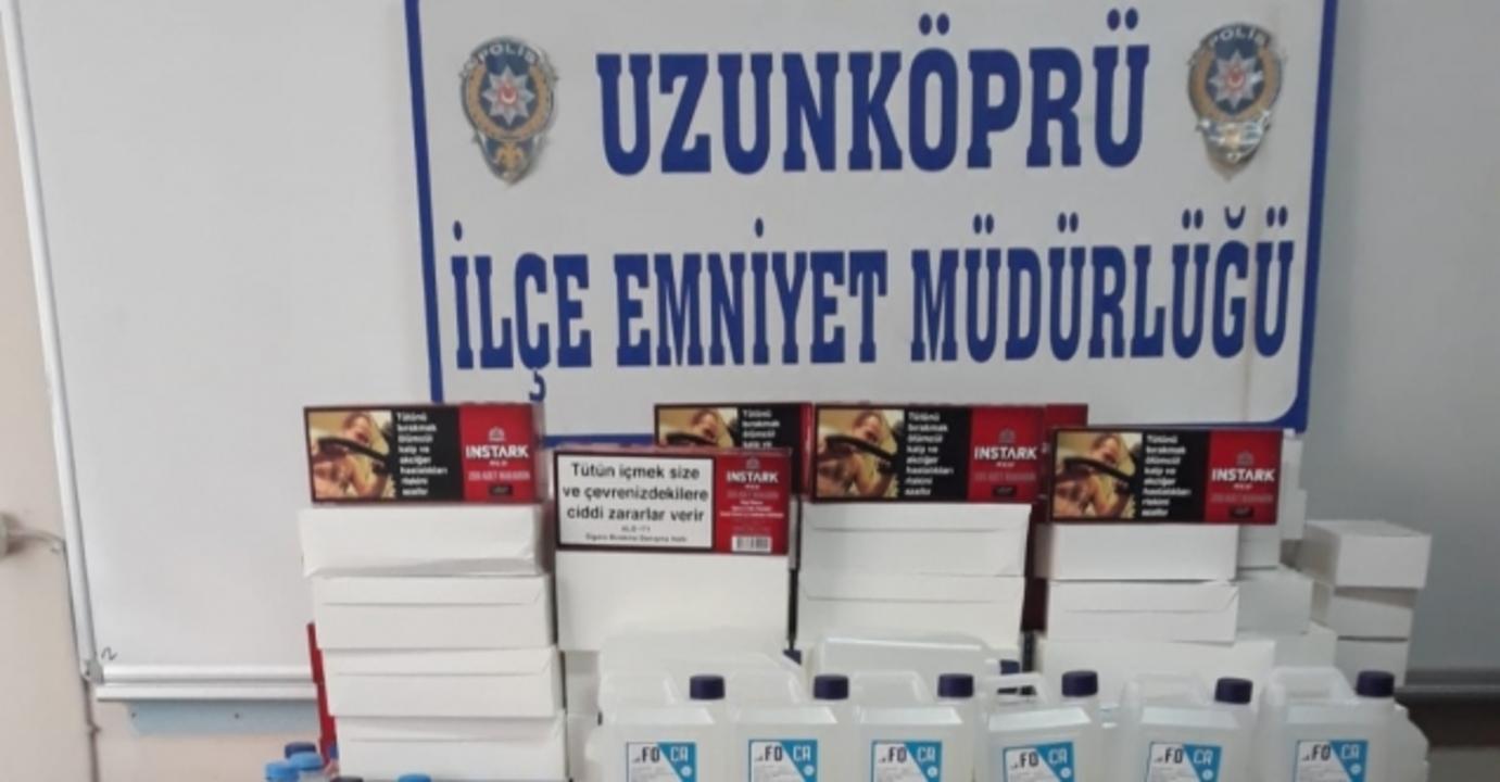 Edirne'de sahte içki operasyonu: 2 gözaltı