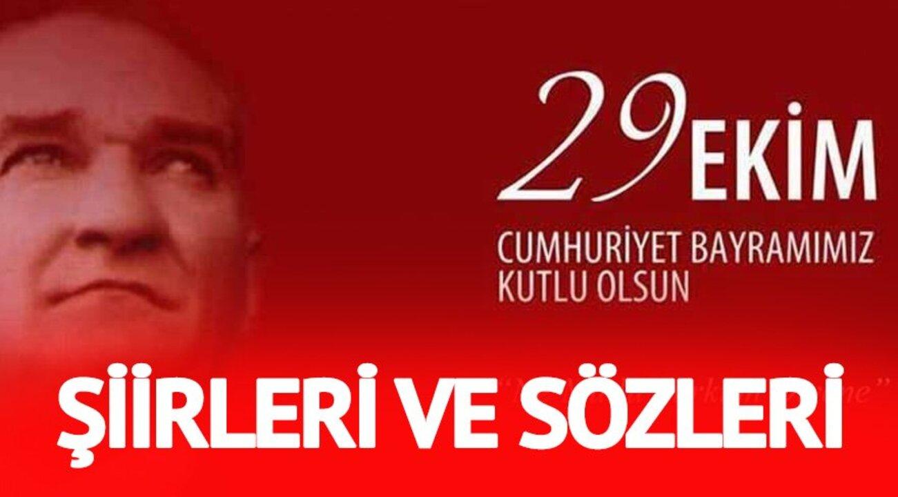 En güzel Cumhuriyet Bayramı sözleri, şiirleri hangileri? 29 Ekim Cumhuriyet Bayramı'nın 98. yıl dönümü bu hafta kutlanacak