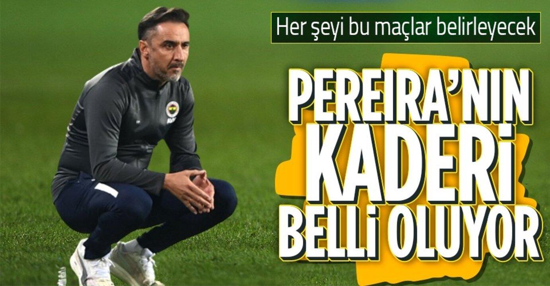 Teknik hoca Pereira, tamam mı devam mı maçlarına çıkmaya hazırlanıyor