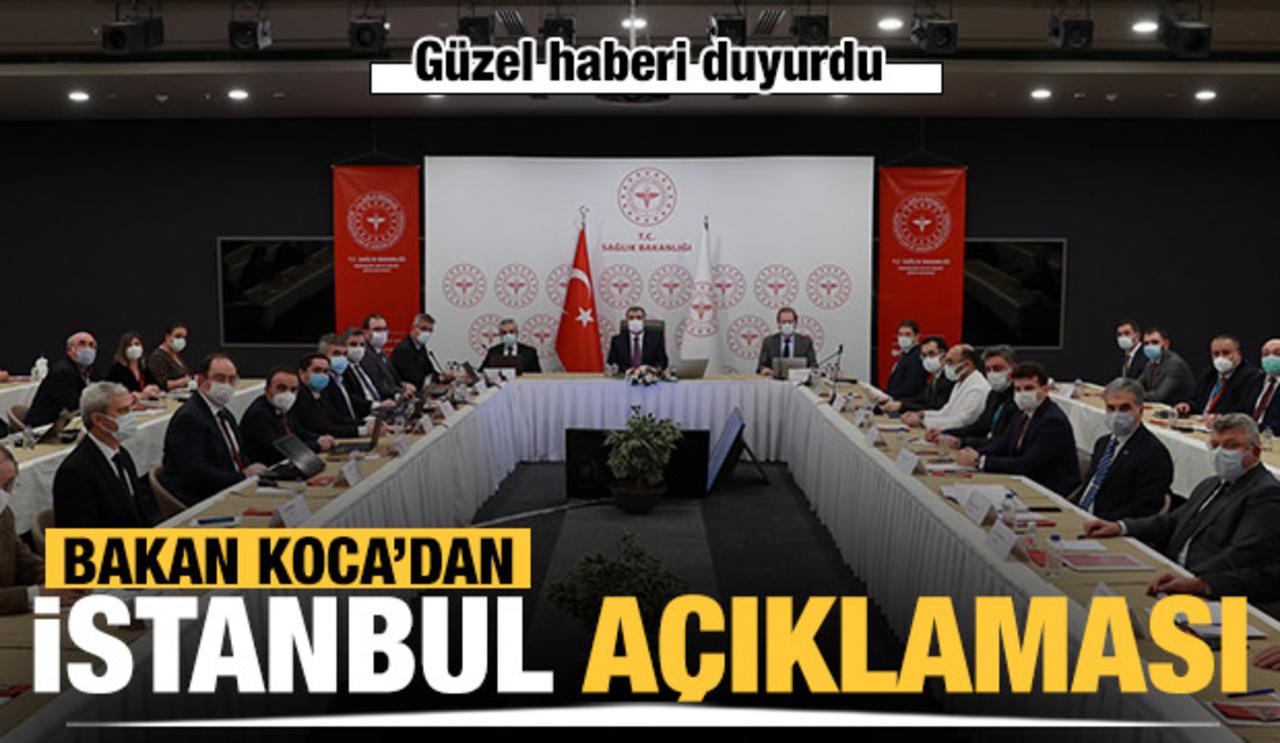 Bakan Koca, İstanbul'un salgın seyrini açıkladı: Vakalarda azalma var..