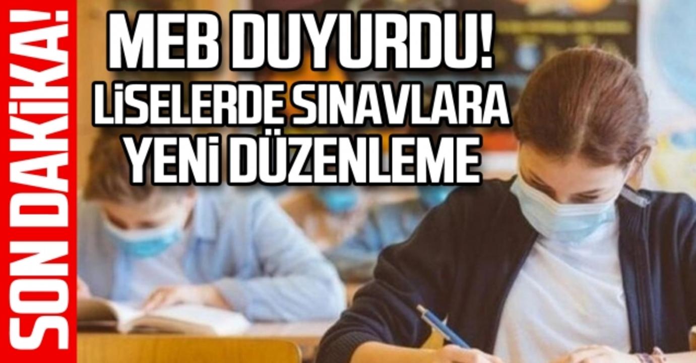 MEB'den son dakika açıklaması: Lise sınavlarında yeni düzenleme yapıldı!