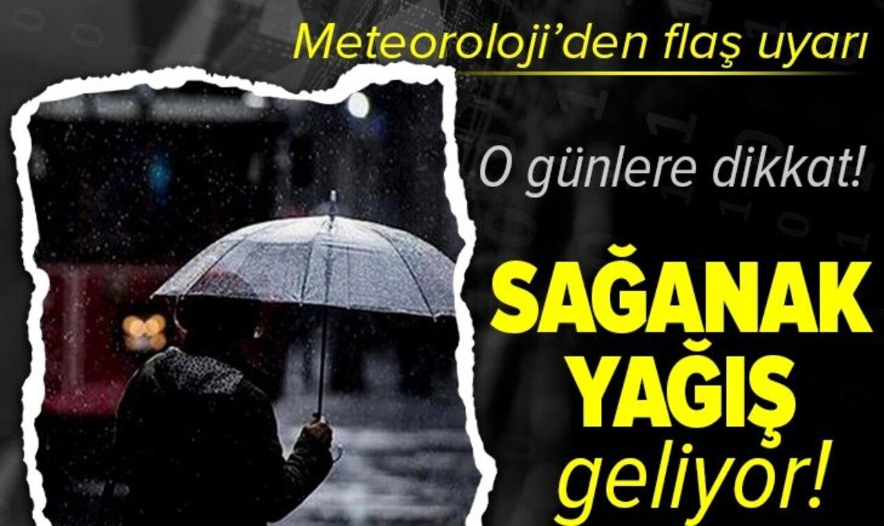 Hava sıcaklıkları düşüyor: Meteoroloji'nden sağanak yağış uyarısı!
